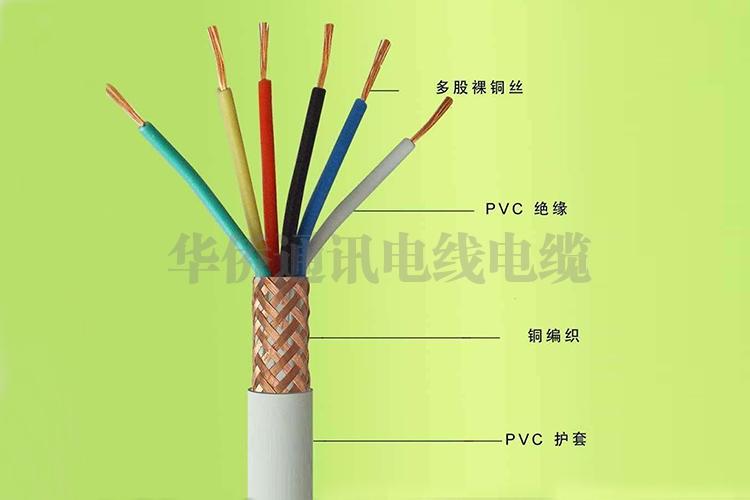Copper core PVC insulated PVC sheath shielded soft wire